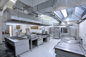 A clean commercial kitchen.