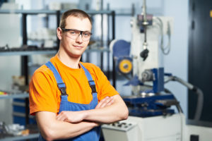 A technician that cleans kitchen exhaust systems.