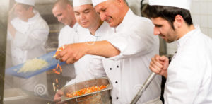 Comp image of chefs cooking.