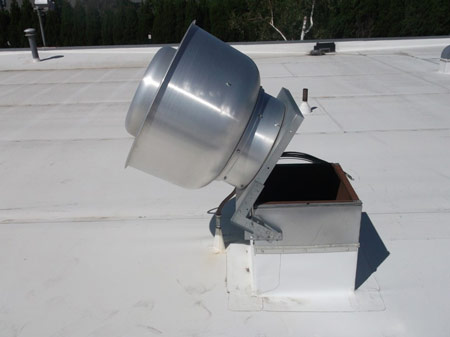 Kitchen Exhaust Fan at building Top