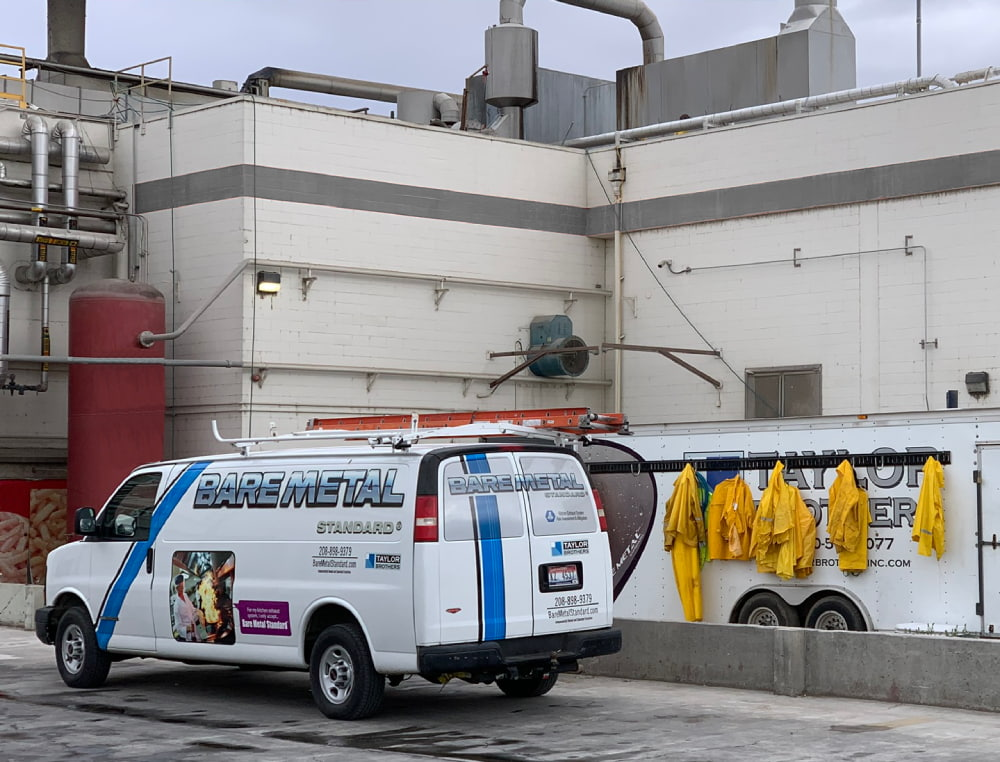 Truck cleaning Industrial plant